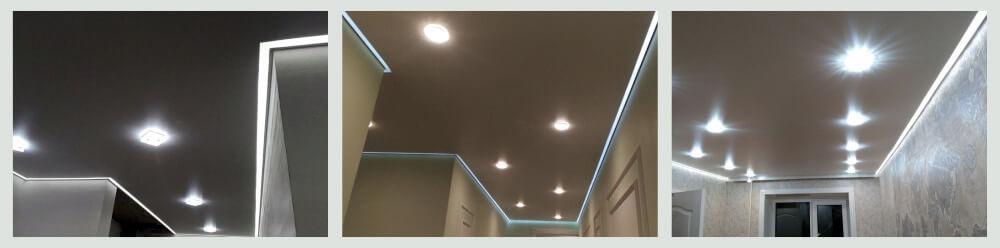 Потолки с контурной подсветкой